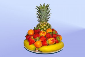 Fruit on a platter